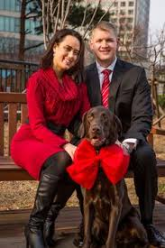 my family holiday card with charlie the moose dog christmas