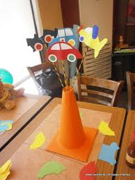Construction Themed Centerpieces by Transportation Party Table Centerpiece Sticks By Paperminties