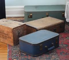 17 apart diy decor stacked vintage suitcase nightstand