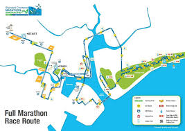 Map Run Route by Singapore Marathon 2014 2015 Date Registration Course Route Map