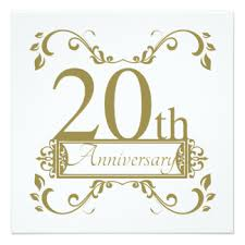 20th wedding anniversary 20 years together invitations announcements zazzle co nz