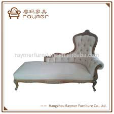 french provincial reproduction style wooden tufted recliner sofa