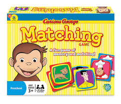 amazon com curious george matching game toys u0026 games