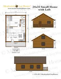 24x32 log home w loft meadowlark log homes