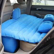 full sized sleeping inflatable pvc travel bed camping suv