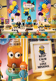 minions birthday party one in a minion birthday party despicable me birthdays and
