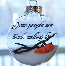 some are worth melting for melted snowman ornament