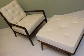 White Chair With Ottoman Shop Atomic Pad Deja Vu