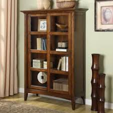 Small Bookcases With Glass Doors Amish Office Furniture Witmer Shaker Bookcase With Sliding Doors
