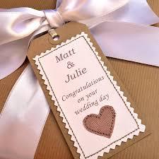 wedding gift labels personalised handmade wedding gift tag weddings