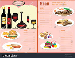 italian restaurant menu full design concept stock vector 53539672