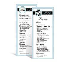 tea length wedding programs wedding tea length programs 3 625 x 8 875 customizable wedding