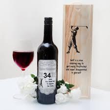 wine gift sets personalised golfers wine gift set giftsonline4u