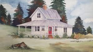 watercolors of old houses request a custom order and have
