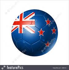 New Zeland Flag Soccer Football Ball With New Zealand Flag Stock Illustration