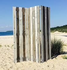 the cape cod star picket fence room divider 3 panels vintage style