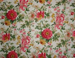 rose fabric sewing supplies cotton fabric cabbage roses fabric