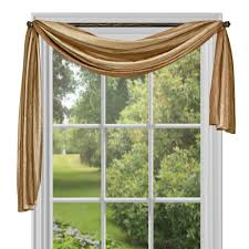 Scarf Curtains Achim Semi Opaque Ombre 144 In L Polyester Scarf In Chocolate