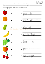 fruits worksheet 98 trace fruits worksheet