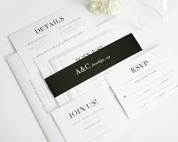 glamorous black and white wedding invitations u2013 wedding invitations