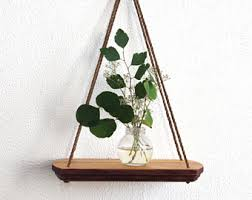 Test Tube Vase Holder Hanging Shelf Wood Swing Shelves Test Tube Holder