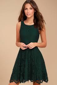 black swan desirae forest green lace dress skater dress