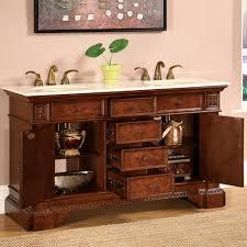 Bathroom Vanity Two Sinks Silkroad Exclusive Hyp 0209 60 Cm Double Sink Bathroom Vanity