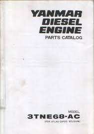 yanmar diesel engine 3tne68 ac parts manual