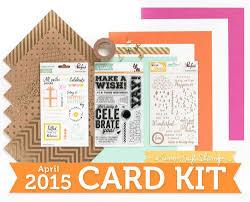 nichol spohr llc simon says stamp april 2015 card kit trio of