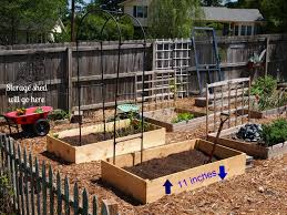 raised bed vegetable garden plans gardening ideas together with