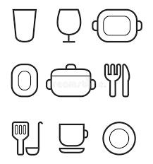 kitchen icon kitchen icon set stock photo image of icon computer 32320324