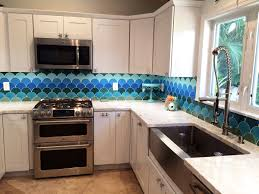 Backsplash In The Kitchen Moroccan Fish Scales Kitchen Backsplash By Mercury Mosaics
