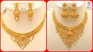 necklace set gold design images Latest gold necklace designs gold necklace sets for brides jpg