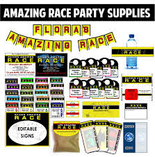 amazing race party ideas for pit stops challenges clues and