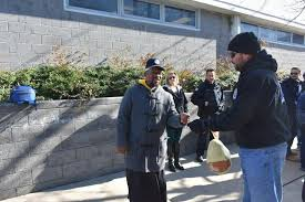 atlantic city pd enforcement deliver turkeys for