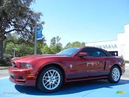 Ford Mustang 2014 Black 2014 Ruby Red Ford Mustang V6 Premium Convertible 78996355