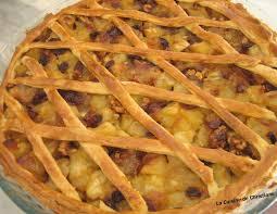 cuisine tarte aux pommes tarte grillagee aux pommes raisins secs et noix la cuisine de