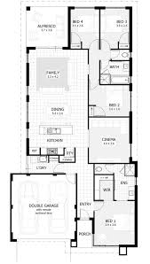 baby nursery narrow land house plans narrow lot single storey