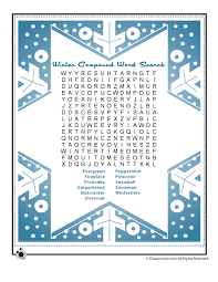 winter compound vocabulary words word search puzzle woo jr