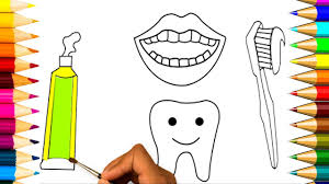 art colors for kids coloring book rainbow teeth lips