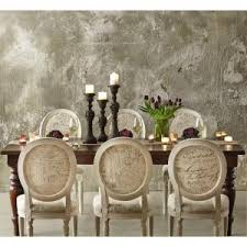 Home Decorators Dining Chairs Home Decorators Collection Oval Ivory Script Upholstered