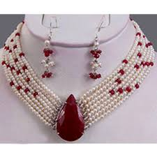 pearl ruby necklace images Pearl ruby necklace at rs 43353 set karol bagh new delhi id jpg