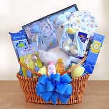 baby shower gift baskets s by design new arrival baby gift basket blue hayneedle