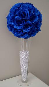 royal blue flower ball wedding centerpiece wedding decor