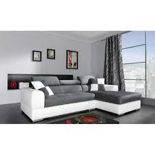 canape solde canapé d angle 13 places néto madrid gris et blanc pas cher canape