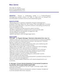 resume objective samples resume objective examples project management frizzigame resume objective examples executive management frizzigame