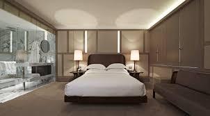 apartment minimalist bedding on mattress with glossy