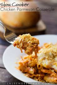 Main Dish Chicken Recipes - slow cooker chicken parmesan casserole lauren greutman