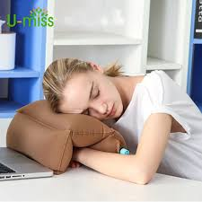 u miss inflatable portable neck student rest sleeping cervical for office desk nap pillow in bedding pillows from home garden on aliexpress com