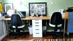 T Shaped Desk Two Desk Home Office Two Desk Home Office Office Desk T Shaped
